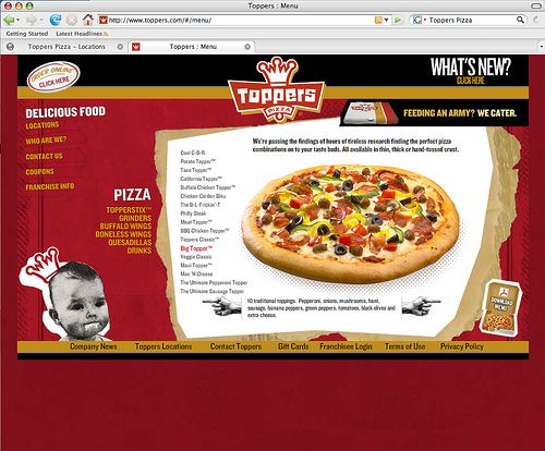 Toppers Pizza Website by Laughlin Constable