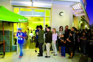 Yogurtland Exterior Line Photo