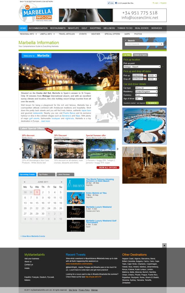 MyMarbellaInfo.com Homepage
