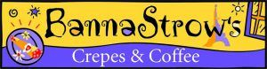 Banna Strow's Crepes and Coffee Franchise Logo