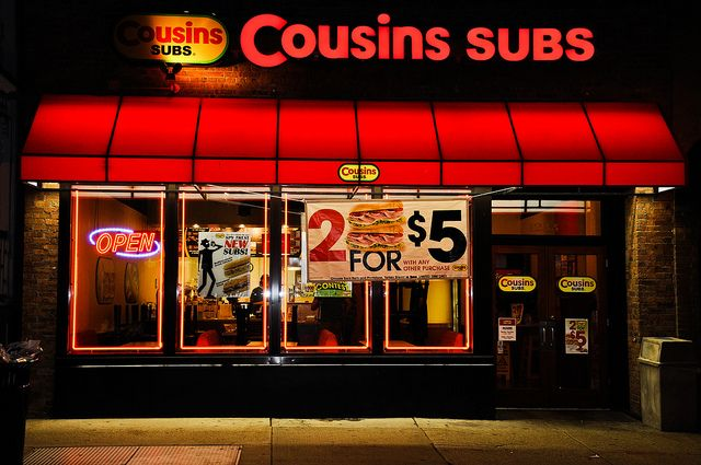 Cousins Subs Exterior Photo by RiPKey
