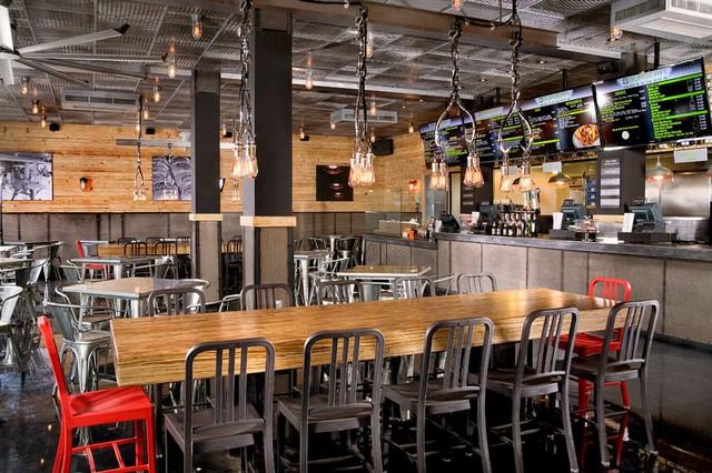 BurgerFi's Restaurant Interior