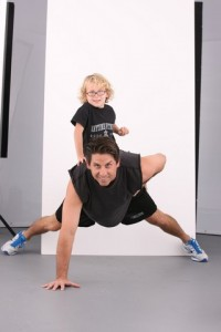 Chuck Runyon, co-founder and CEO of Anytime Fitness, with his son Charlie