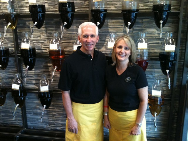 Terry and Dana Hunter, Oil & Vinegar Franchisees in Asheville, North Carolina