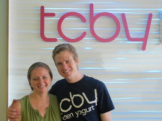 Rick and Kerry Green, Franchisees of TCBY at the Arapahoe Market in Greenwood Village, Colorado