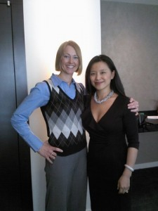 Susan with Amy Cheng, Founding Partner of Cheng Cohen (Titanium Sponsor)