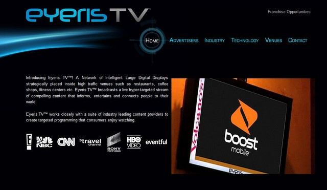 Eyeris TV Website Screenshot