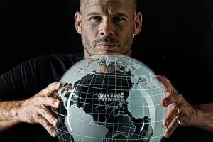 Anytime Fitness Dave Mortensen with Globe