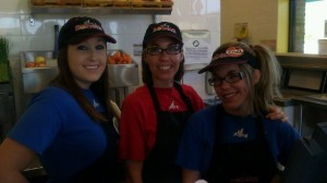 Robeks Franchisee Debbie Soyka (center) with Nichole Soyka (right) and Assistant Manager Bridget White