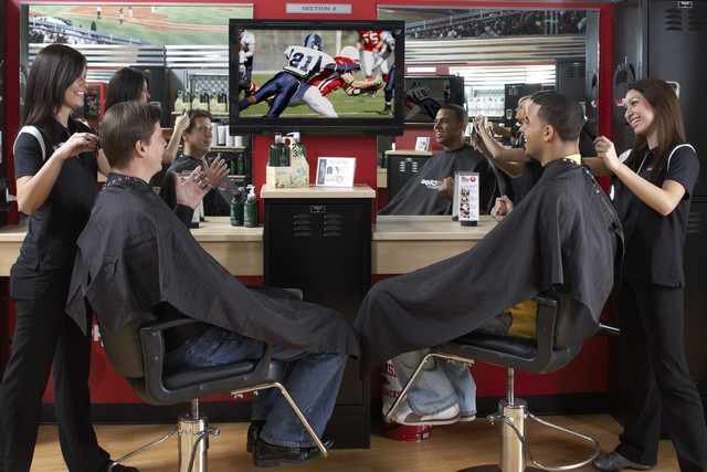 Sport Clips Guys-Watching-Sports