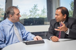 Keith Gerson (L), FranConnect President for Global Operations, and Amit Pamecha, FranConnect's Founder and CEO