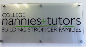 College Nannies and Tutors Sign by Signarama Gibsonia PA