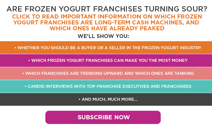 Are Frozen Yogurt Franchises Turning Sour