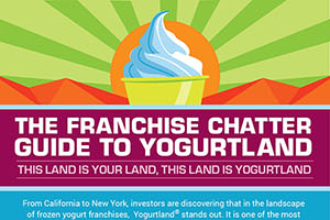 Yogurtland Frozen Yogurt Franchise Infographic