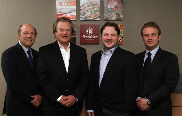 PizzaRev Executives (From Left) Irv Zuckerman, Rodney Eckerman Jeff Zuckerman and Nicholas Eckerman