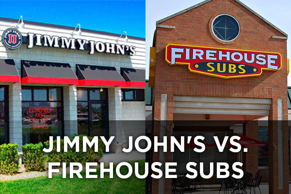 Jimmy John's vs. Firehouse Subs Photo