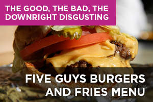 Five Guys Burgers and Fries Menu