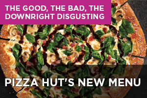 Pizza Hut's new menu