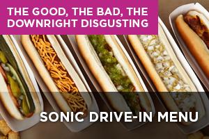 SONIC Drive-In Menu