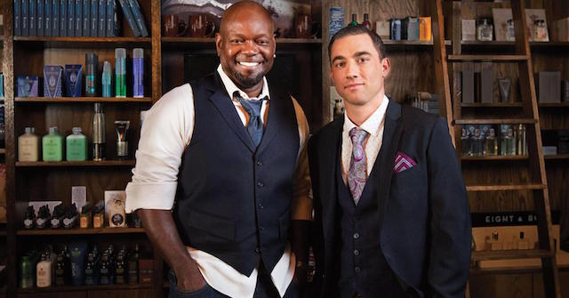 Emmitt Smith, co-owner, and Ben Davis, founder of The Gents Place