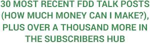 30 Most Recent FDD Talk Posts