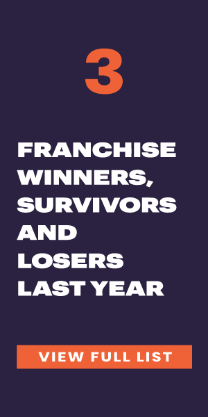 Franchise Winners, Survivors, and Losers of the Past Year